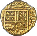 Colombia, Colombia: Philip IV gold Cob 2 Escudos ND (1632-33) C-E AU58NGC,...