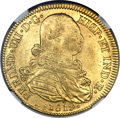 Colombia, Colombia: Ferdinand VII gold 8 Escudos 1819 NR-JF MS62 NGC,...