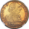 Colombia, Colombia: Charles IV gold 8 Escudos 1789 P-SF XF45 NGC,...