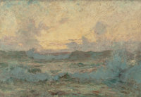 HOWARD RUSSELL BUTLER (American, 1856-1934) Restless Sea, 1887 Oil on canvas 15 x 21-1/2 inches (