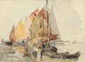 Works on Paper, ROSS STERLING TURNER (American, 1847-1915). Venice, 1880. Watercolor on paper. 9-1/2 x 13 inches (24.1 x 33.0 cm) (sight...
