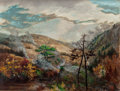 Fine Art - Painting, American:Antique  (Pre 1900), SARAH ANN FREEMAN CLARKE (American, 1808-1896). Great SmokyMountains (At Waynesville, in North Carolina Mountains), 188...