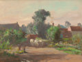 Fine Art - Painting, American:Modern  (1900 1949)  , STEPHEN SEYMOUR THOMAS (American, 1868-1956). Souvenir des BeauxMatins a Moyencourt. Oil on panel. 10-1/2 x 13-3/4 inch...