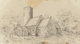 Circle of Jasper Francis Cropsey (American, 1823-1900) English Church Pencil on paper 5-1/2 x 9-3/4 inches (14.0 x 24