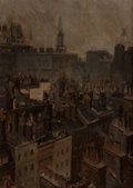 Fine Art - Painting, American:Antique  (Pre 1900), JOSEPH PENNELL (American, 1857-1926). The Quarter: View of theOld Part of the Adelphi, London from Joseph Pennell's Windo...