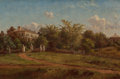 Fine Art - Painting, American:Antique  (Pre 1900), CHARLES HERBERT MOORE (American, 1840-1930). A CountryEstate, 1882. Oil on canvas. 8 x 12 inches (20.3 x 30.5 cm).Sign...