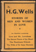 Books:Literature 1900-up, H. G. Wells. Stories of Men and Women in Love. London:[1933]....