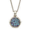 Estate Jewelry:Necklaces, Blue Topaz, Iolite, Sterling Silver Pendant-Necklace, John Hardy....