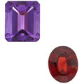 Estate Jewelry:Unmounted Gemstones, Unmounted Amethyst And Garnet Lot. ...