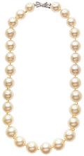 Estate Jewelry:Necklaces, South Sea Cultured Pearl, Diamond, White Gold Necklace. ...