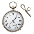 Timepieces:Pocket (pre 1900) , English Key Wind Silver Pocket Watch. ...