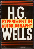 Books:Biography & Memoir, H. G. Wells. Experiment in Autobiography. New York: 1934....