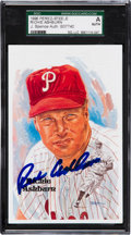 Baseball Collectibles:Others, 1996 Richie Ashburn Signed Perez-Steele Postcard. ...