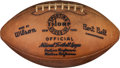 Football Collectibles:Balls, 1958 NFL Championship Game Used, Signed Football With Letter of Provenance From Charlie Conerly's Wife. ...