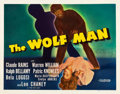 "Movie Posters:Horror, The Wolf Man (Universal, 1941). Autographed Half Sheet (22"" X 28"").. ..."