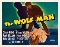 "The Wolf Man (Universal, 1941). Autographed Half Sheet (22"" X 28"")"