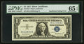 Error Notes:Blank Reverse (<100%), Fr. 1619 $1 1957 Silver Certificate. PMG Gem Uncirculated 65 EPQ.....