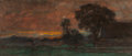 Fine Art - Painting, American:Antique  (Pre 1900), JOSEPH FRANK CURRIER (American, 1843-1909). Landscape at Sunset,Bavaria. Pastel on paper. 6 x 13-3/4 inches (15.2 x 34....