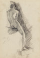 Dennis Miller Bunker (American, 1861-1890) Male Nude, 1879 Pencil and charcoal on paper 11-1/2 x 8-1/2 inches (29.2 x