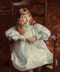 Fine Art - Painting, European:Antique  (Pre 1900), ALFRED HARTLEY (British, 1855-1933). Portrait of Ina Wigan, ageeight. Oil on canvas. 30 x 25 inches (76.2 x 63.5 cm). S...
