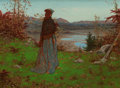 Paintings, WILLIAM J. HENNESSY (British/American, 1839-1917). Woman in an Autumn Landscape, 1868. Oil on canvas. 12-1/2 x 17 inches...