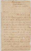 Autographs:Military Figures, [Revolutionary War]. Nathanael Greene Autograph Letter Signed...