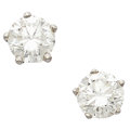 Estate Jewelry:Earrings, Diamond, White Gold Earrings, Wempe. ...