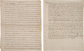 Miscellaneous:Ephemera, [William Penn]. Two Period Fair Copies of Land Deeds ReferencingWilliam Penn and the Colony of Pennsylvania....
