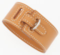 "Luxury Accessories:Accessories, Hermes Vache Naturelle Leather Intense Bracelet with PalladiumHardware. Very Good to Excellent Condition. 1"" Width x..."