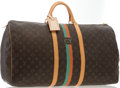 """Luxury Accessories:Travel/Trunks, Louis Vuitton Classic Monogram Canvas Keepall 60 Weekender Bag. Very Good to Excellent Condition. 24"""" Width x 13"""" Heig..."""
