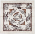 "Luxury Accessories:Accessories, Hermes 90cm Gray & Black ""Guépards,"" by Robert Dallet SilkScarf. Excellent to Pristine Condition. 36"" Width x 36""Len..."