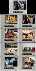 """Movie Posters:Science Fiction, Rollerball (United Artists, 1975). Lobby Card Set of 8 & Lobby Card (11"""" X 14""""). Science Fiction.. ... (Total: 9 Items)"""