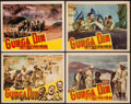 "Movie Posters:Action, Gunga Din (RKO, 1939/R-1942). Lobby Cards (4) (11"" X 14""). Action.. ... (Total: 4 Items)"