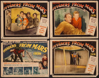 """Invaders from Mars (20th Century Fox, 1953). Title Lobby Card & Lobby Cards (3) (11"""" X 14""""). Science Ficti..."""