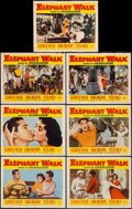 "Movie Posters:Adventure, Elephant Walk (Paramount, 1954). Lobby Cards (7) (11"" X 14"").Adventure.. ... (Total: 7 Items)"