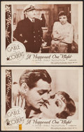 """Movie Posters:Academy Award Winners, It Happened One Night (Columbia, R-1948). Lobby Cards (2) (11"""" X 14""""). Academy Award Winners.. ... (Total: 2 Items)"""