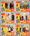 """Movie Posters:Musical, Top Hat (RKO, R-1953). Lobby Cards (6) (11"""" X 14""""). Musical.. ... (Total: 6 Items)"""