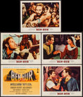 "Movie Posters:Academy Award Winners, Ben-Hur (MGM, 1959). Title Lobby Card & Lobby Cards (4) (11"" X14""). Academy Award Winners.. ... (Total: 5 Items)"
