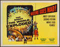 "Movie Posters:Science Fiction, The Night the World Exploded! (Columbia, 1957). Half Sheet (22"" X28""). Science Fiction.. ..."