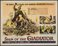 "Movie Posters:Adventure, Sign of the Gladiator (American International, 1959). Half Sheet(22"" X 28""). Adventure.. ..."