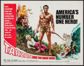 "Movie Posters:Adventure, Tarzan and the Great River (Paramount, 1967). Half Sheet (22"" X28""). Adventure.. ..."