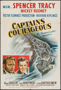 "Movie Posters:Adventure, Captains Courageous (MGM, R-1946). One Sheet (27"" X 41"").Adventure.. ..."