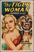 "Movie Posters:Crime, The Tiger Woman (Republic, 1945). One Sheet (27"" X 41""). Crime....."