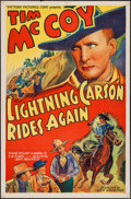 "Movie Posters:Western, Lightning Carson Rides Again (Victory, 1938). One Sheet (27"" X 41""). Western.. ..."