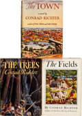 Books:Literature 1900-up, Conrad Richter. The Ohio Frontier Trilogy: The Trees [and:] The Fields [and:] The Town. ... (Total: 3 Items)