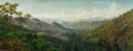 Fine Art - Painting, American:Antique  (Pre 1900), THADDEUS WELCH (American, 1844-1919). Mountain Landscape.Oil on canvas. 14 x 35-3/4 inches (35.6 x 90.8 cm). FROM THE...