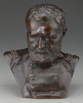 Sculpture, KARL GERHARDT (American, 1853-1940). Bust of General Grant, 1885. Bronze. 8-1/2 inches (21.6 cm) high. Inscribed on the ...