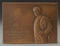 Fine Art - Painting, American, VICTOR BRENNER (American, 1871-1924). Portrait relief of JamesMcNeil Whistler. Bronze with brown patina. 2-1/2 x 3-1/2 ...