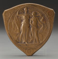 Sculpture, ADOLPH ALEXANDER WEINMAN (American, 1870-1952). Louisiana Purchase Exposition Medal, 1904. Bronze with brown patina. 2-3...
