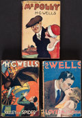 Books:Literature 1900-up, H. G. Wells. Group of Three London Book Co. Edition Books....(Total: 3 Items)